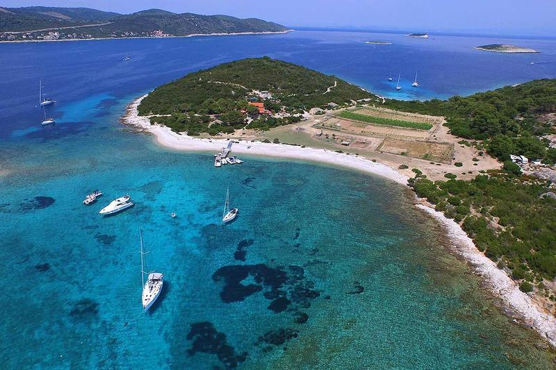 Small inhabitated island Budikovac called Green lagoon
