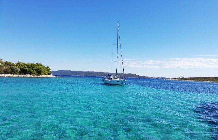 Blue lagoon Krknjasi Drvenik Veli from Trogir