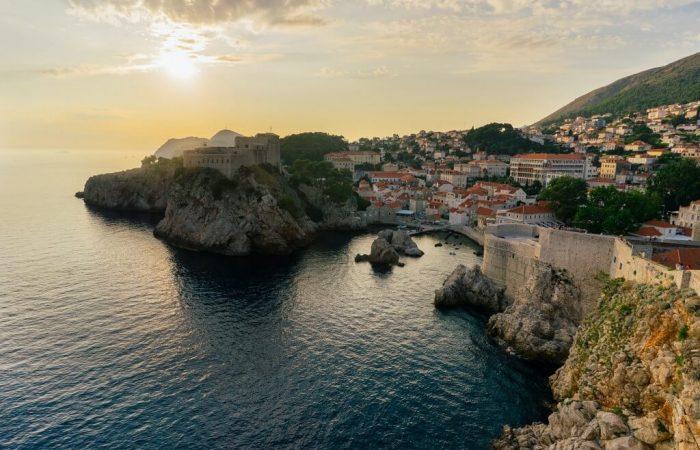 Dubrovnik walls from sea Trogir tours