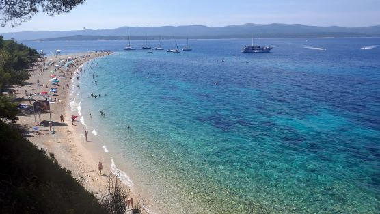 One of the most beautiful beach in Croatia Golden horn in Bol island Brač