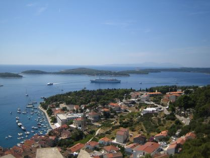 town Hvar view from fortress Fortica