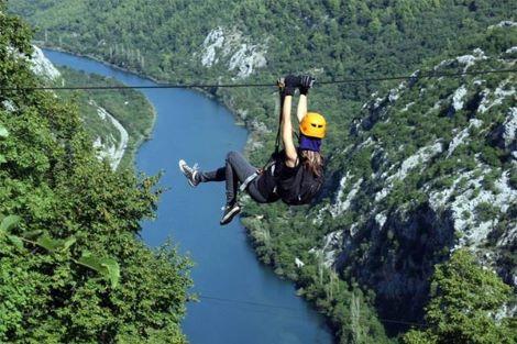 Zipline adventure over Cetina canyon