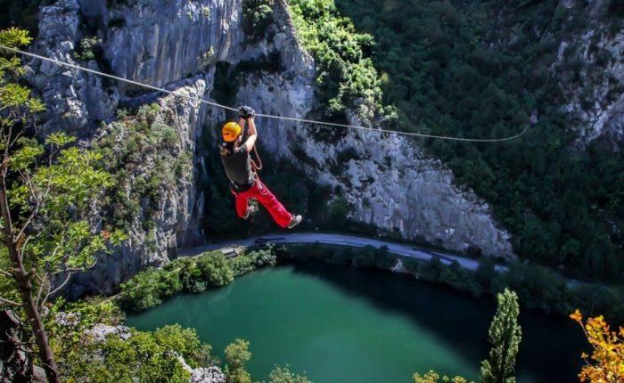 Zip line Omis from Trogir