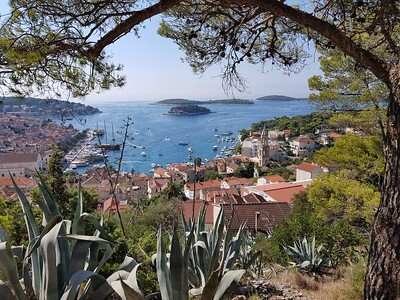 Amazing town Hvar view from air