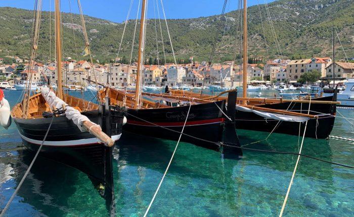 Komiza village island Vis from Trogir