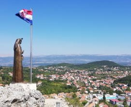 Town Sinj view from Virgin Mary statue