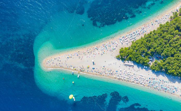 Most beautiful beach in Croatia Golden horn Brac Bol