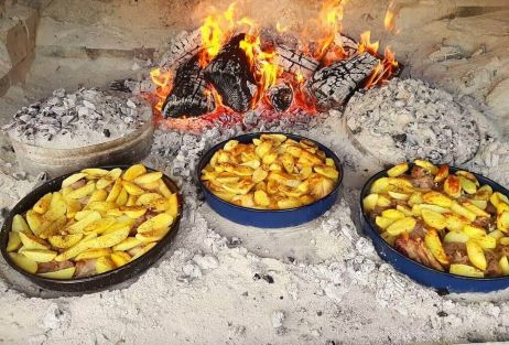 Traditional meal peka cooking