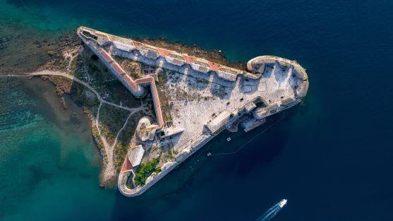 Šibenik fortress on the sea