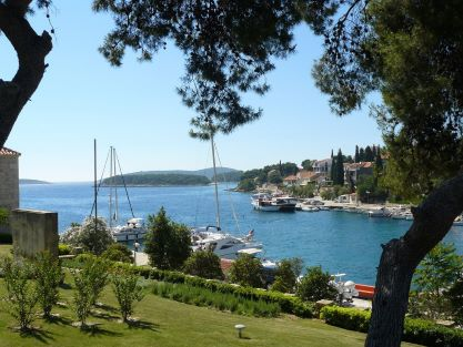 Fish picnic Trogir village Maslinica