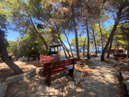 Fish picnic blue lagoon Trogir